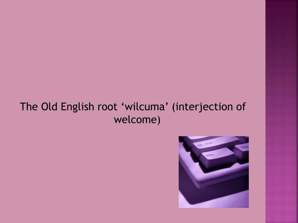 The Old English root '