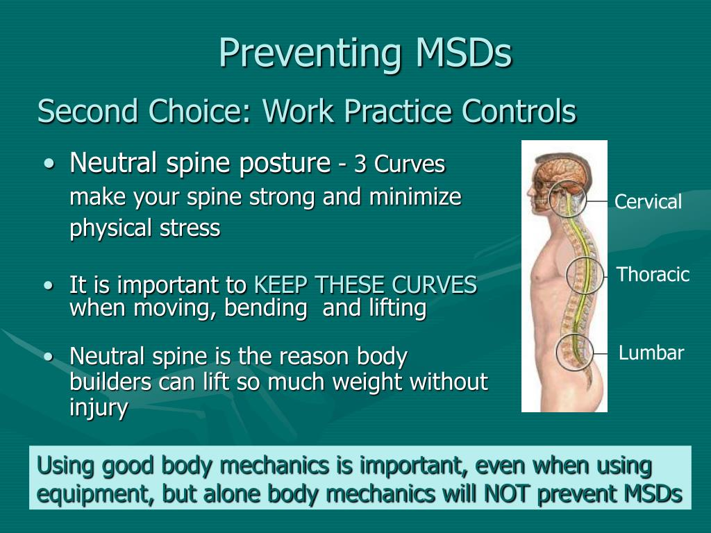 Preventing MSDs