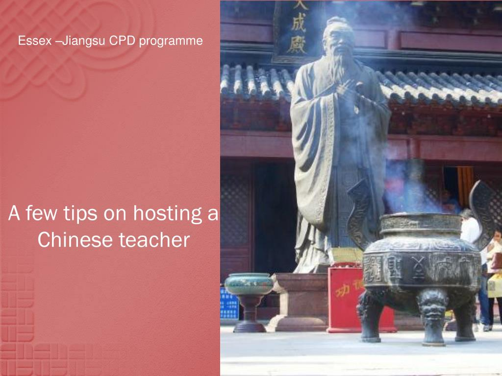 a few tips on hosting a chinese teacher