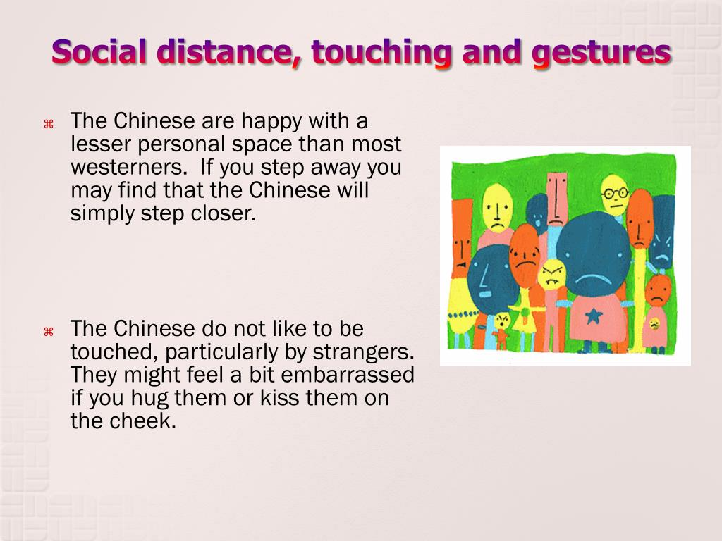 Social distance, touching and gestures