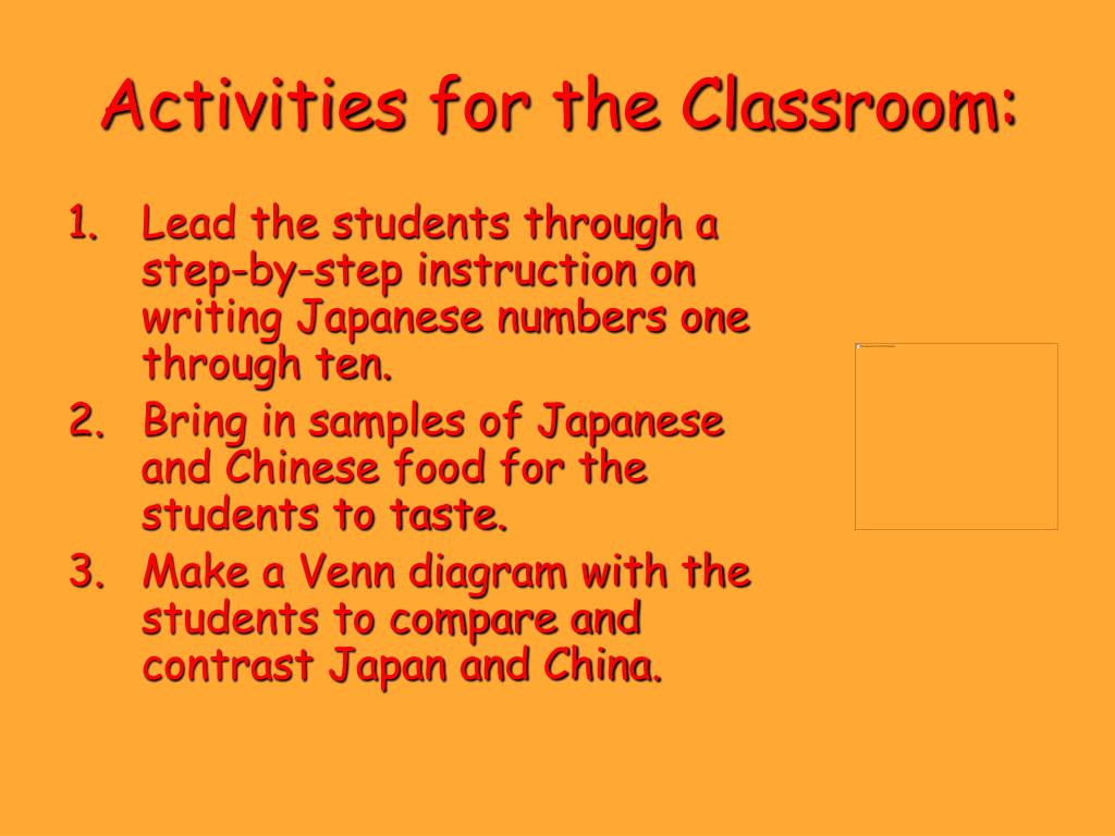 Activities for the Classroom: