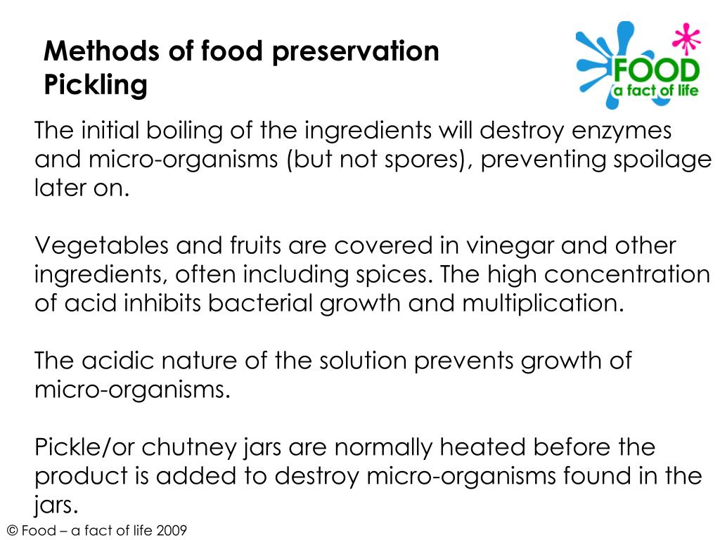 Methods of food preservation