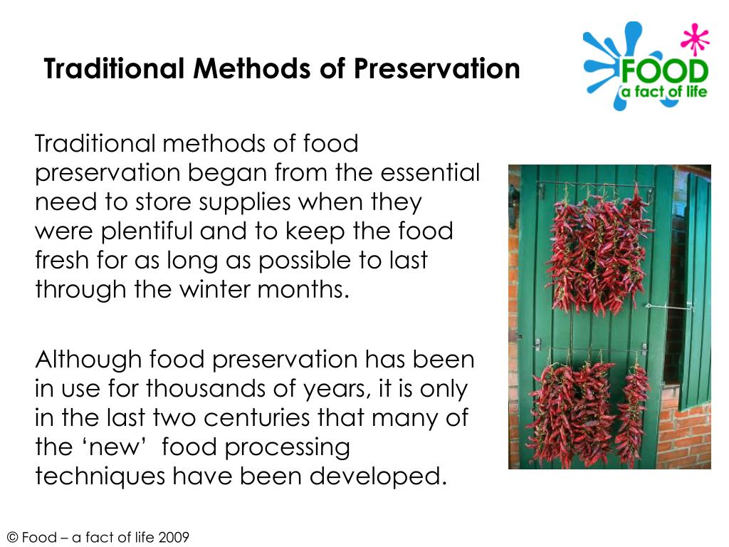 Traditional Methods of Preservation