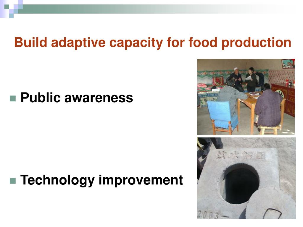 Build adaptive capacity for food production