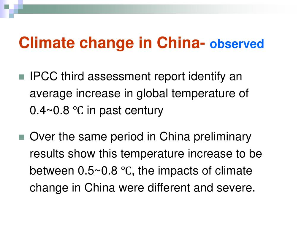 Climate change in China-