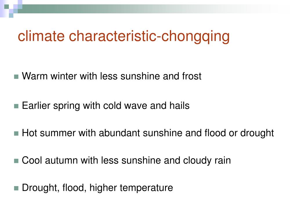 climate characteristic