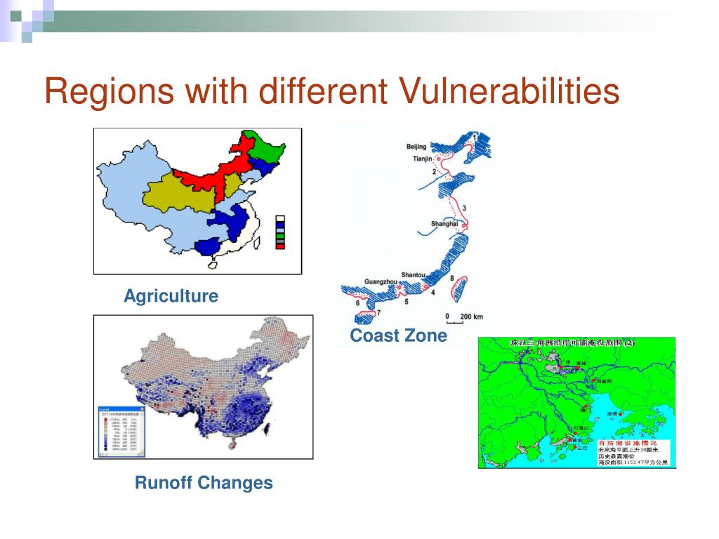 Regions with different Vulnerabilities