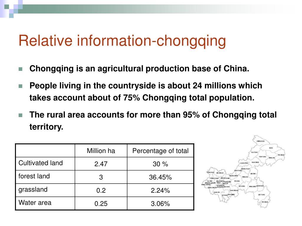 Relative information-chongqing
