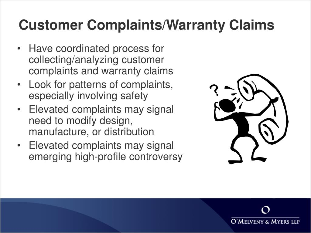 Customer Complaints/Warranty Claims