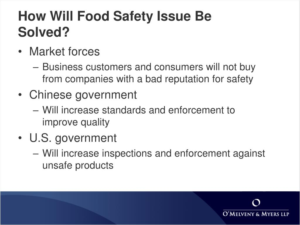 How Will Food Safety Issue Be Solved?