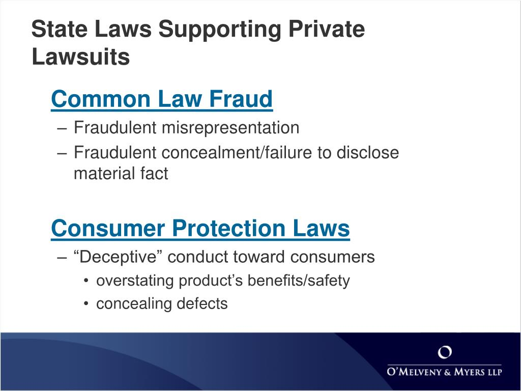 State Laws Supporting Private Lawsuits