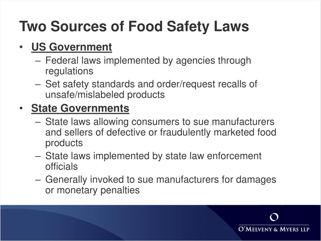 Two Sources of Food Safety Laws