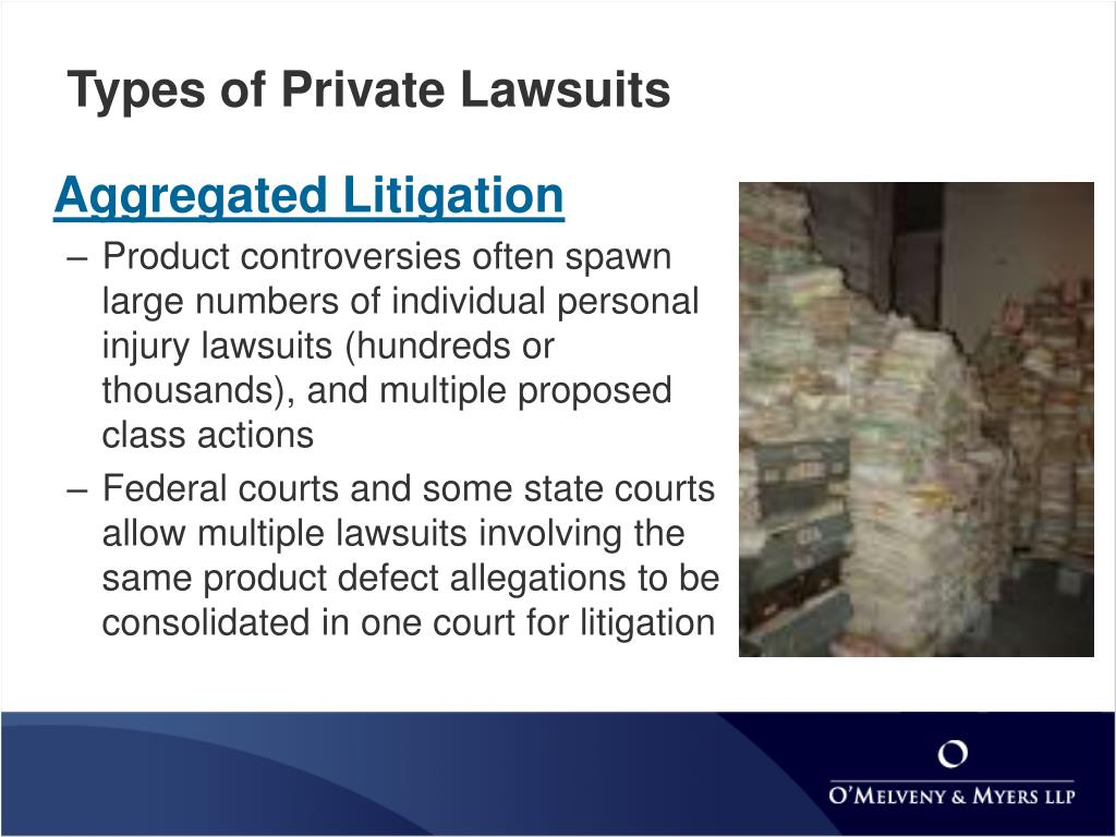 Types of Private Lawsuits