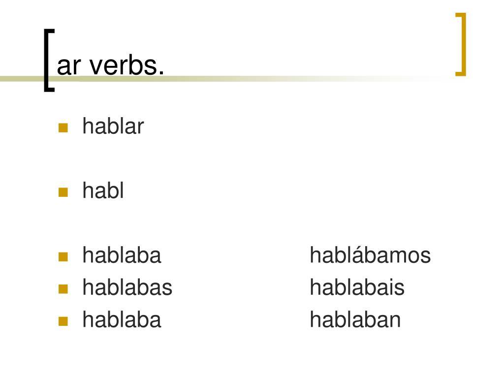 ar verbs.