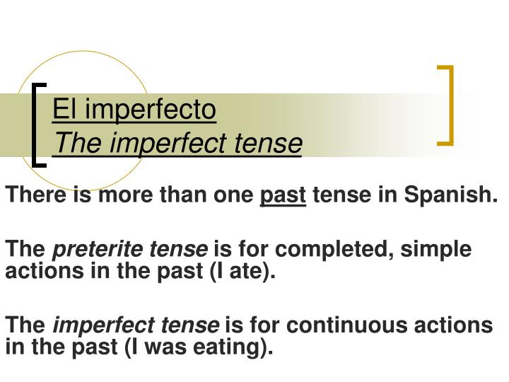 El imperfecto the imperfect tense l.jpg