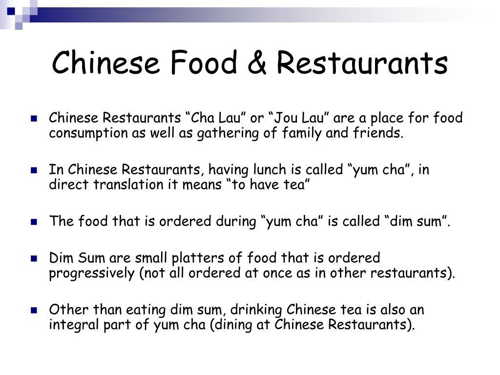 Chinese Food & Restaurants