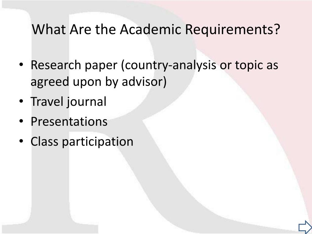 What Are the Academic Requirements?