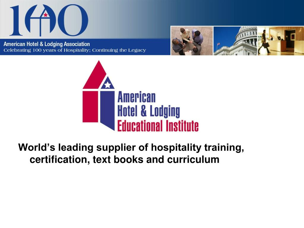 World's leading supplier of hospitality training, certification, text books and curriculum