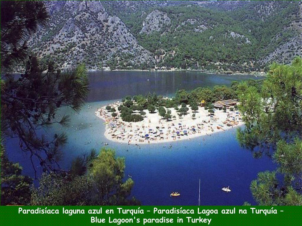 Paradisíaca laguna azul en Turquía – Paradisíaca Lagoa azul na Turquía –