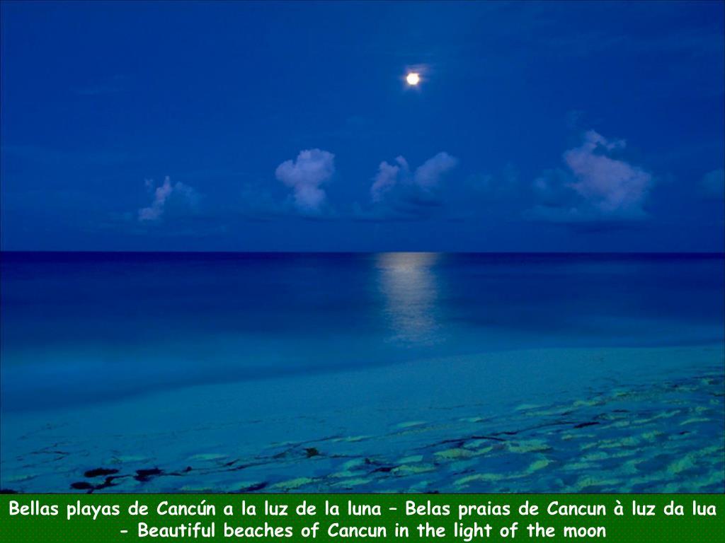 Bellas playas de Cancún a la luz de la luna – Belas praias de Cancun à luz da lua -