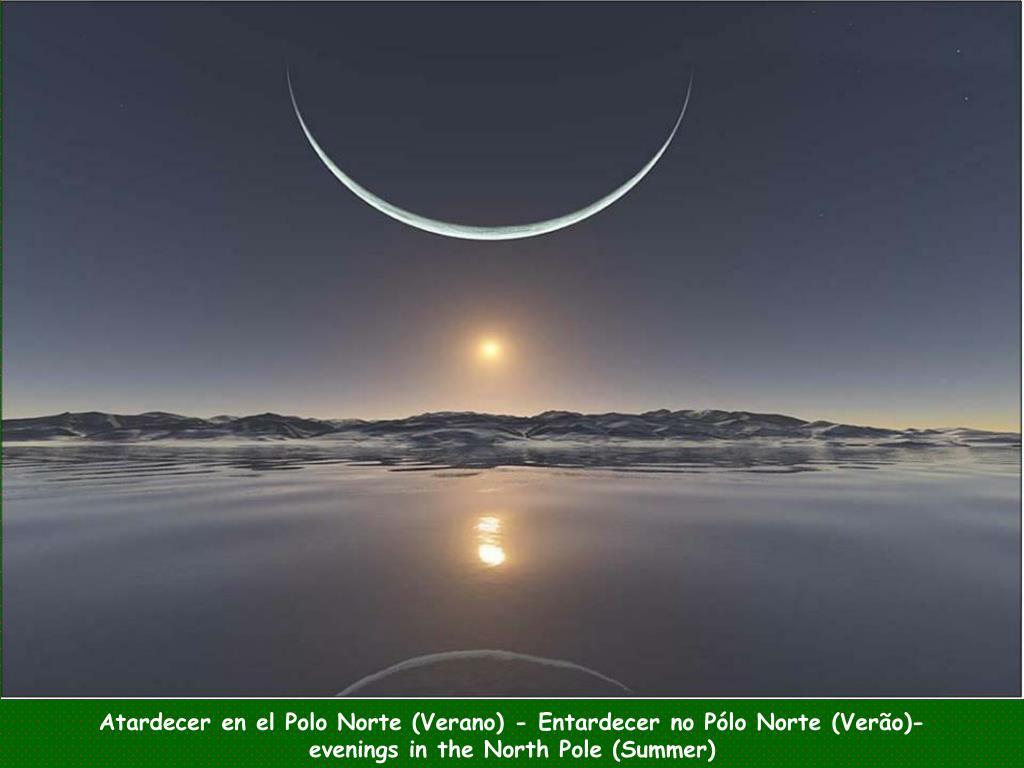 Atardecer en el Polo Norte (Verano) - Entardecer no Pólo Norte (Verão)-
