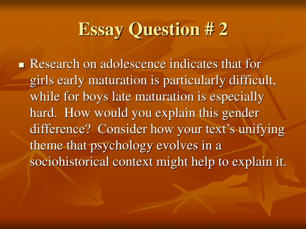 essay adolescence period Adolescence essay - give your papers to the most talented writers find out everything you need to know about custom writing begin working on your essay now with.