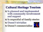 cultural heritage tourism35