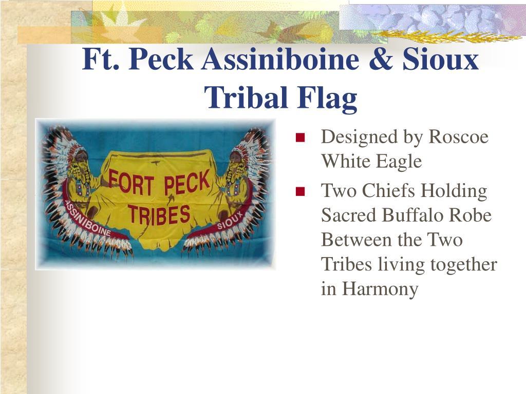 Ft. Peck Assiniboine & Sioux Tribal Flag
