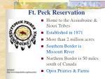 ft peck reservation