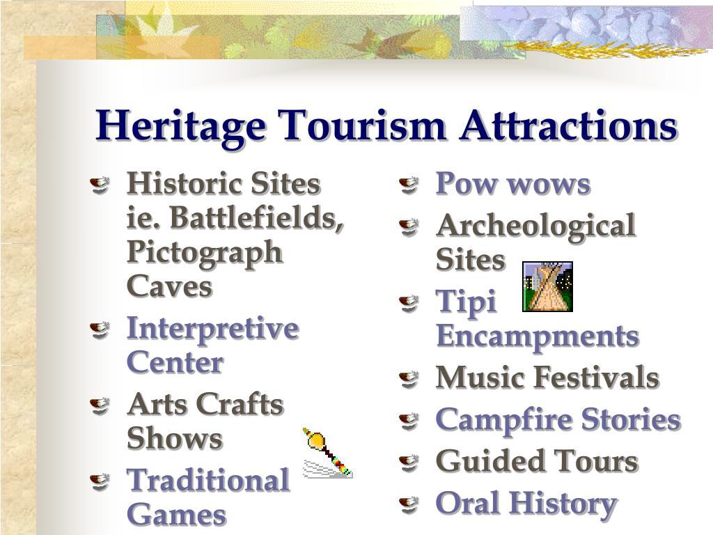 Historic Sites       ie. Battlefields, Pictograph Caves