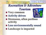 recreation adventure tourism