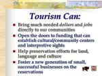 tourism can