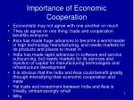importance of economic cooperation