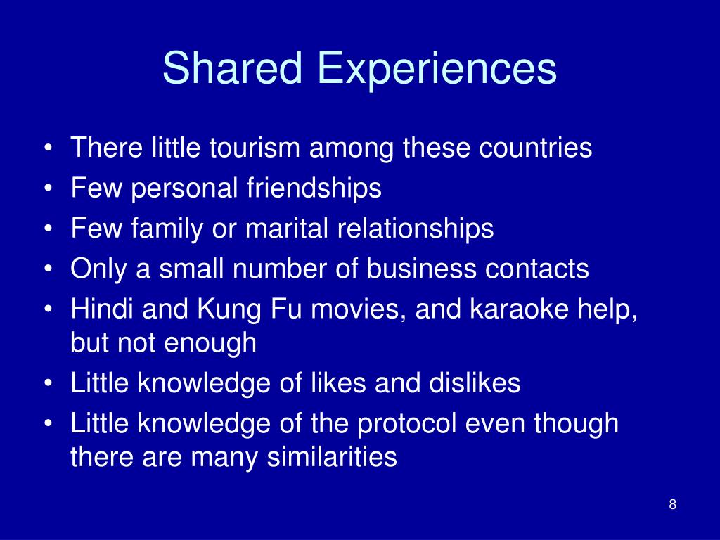Shared Experiences