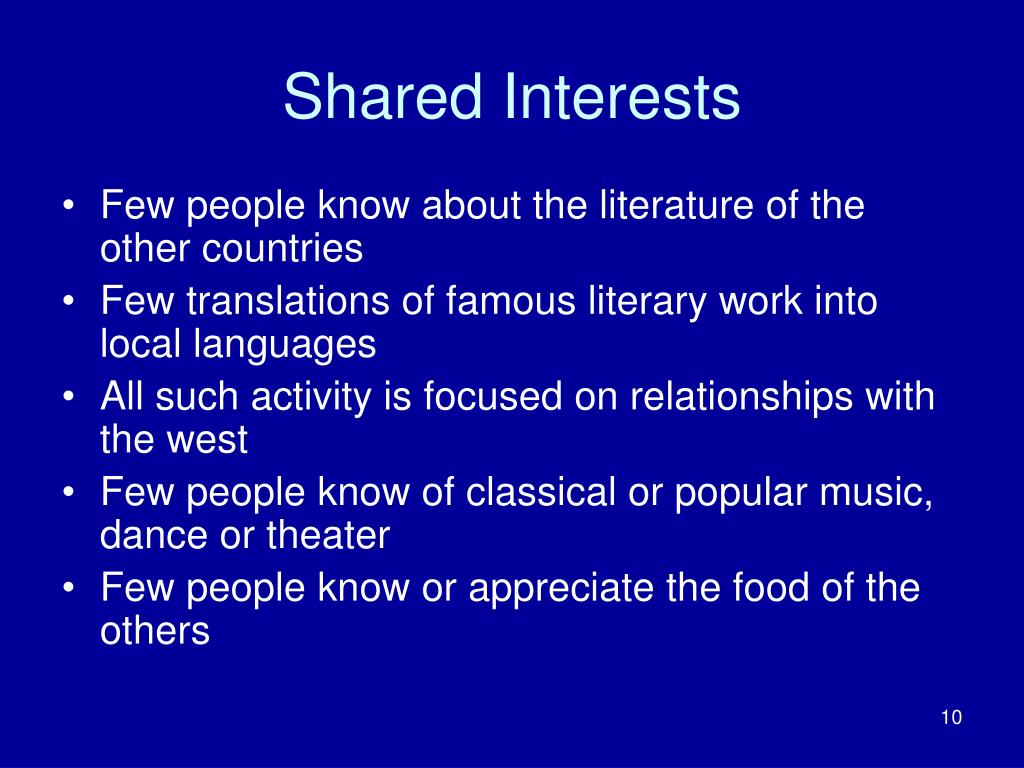 Shared Interests