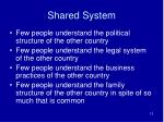 shared system