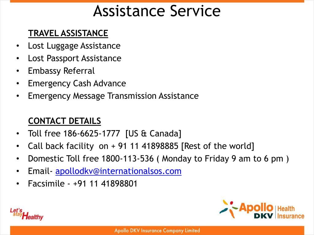 Assistance Service