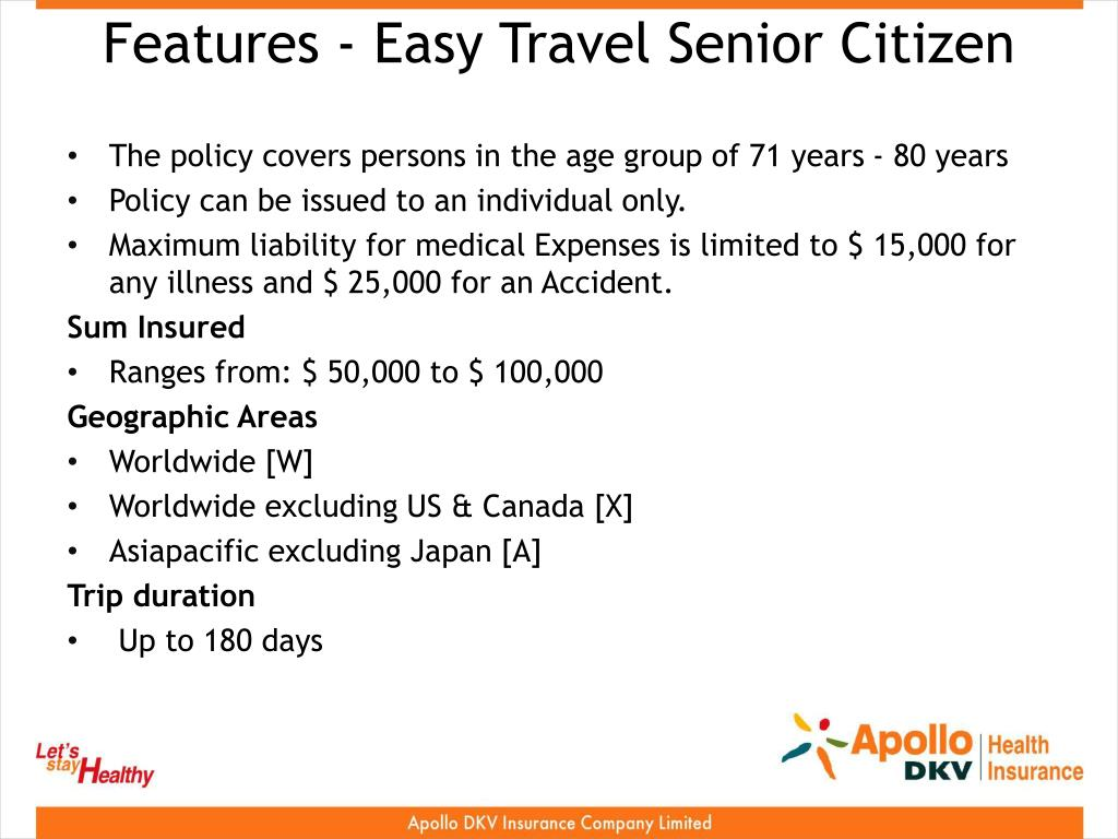 Features - Easy Travel Senior Citizen