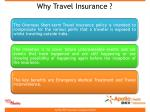 why travel insurance
