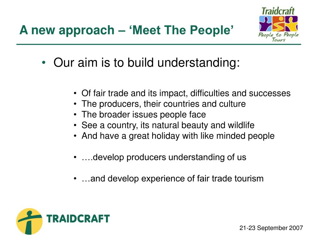 A new approach – 'Meet The People'