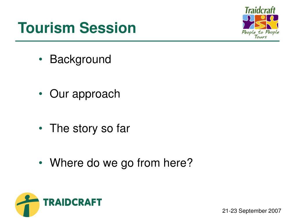 Tourism Session