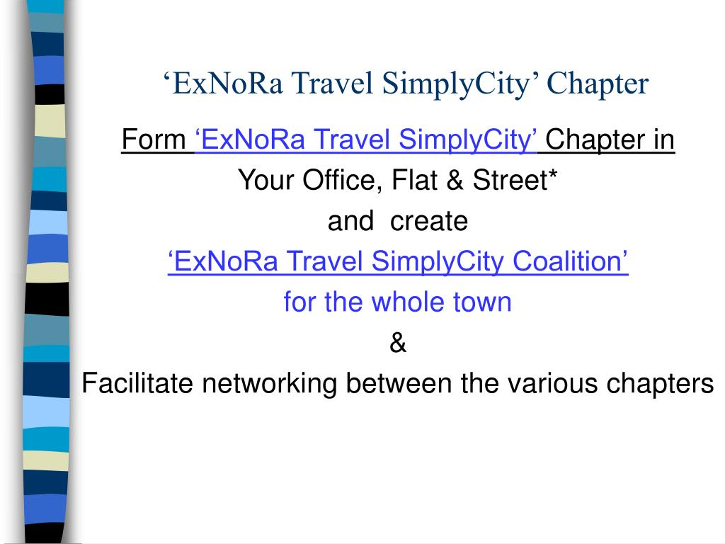 'ExNoRa Travel SimplyCity' Chapter
