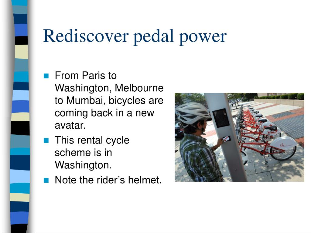 Rediscover pedal power