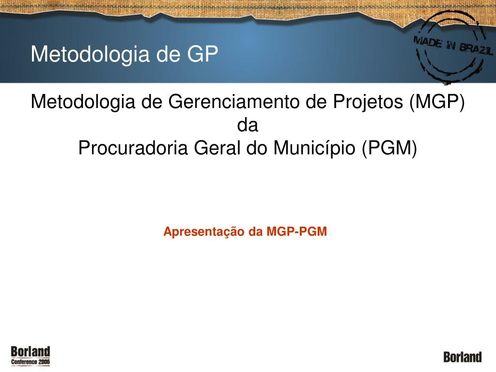 Metodologia de GP