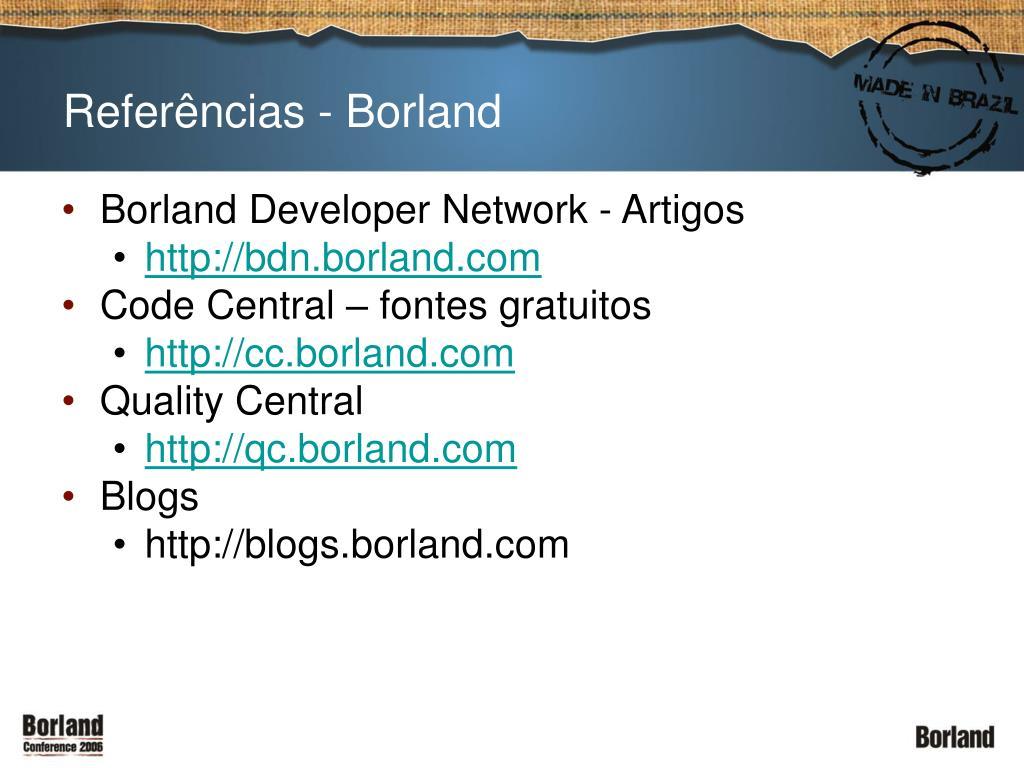 Referências - Borland