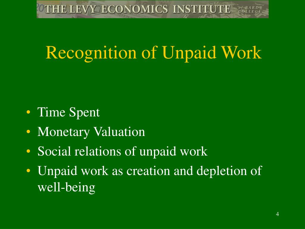 Recognition of Unpaid Work