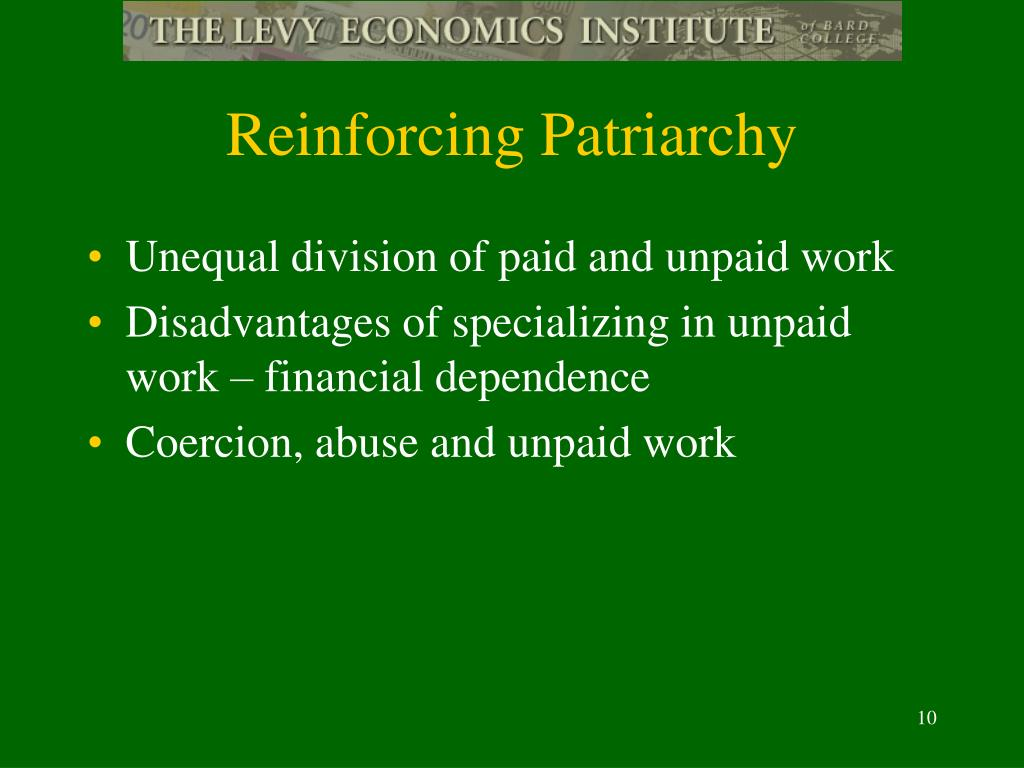 Reinforcing Patriarchy