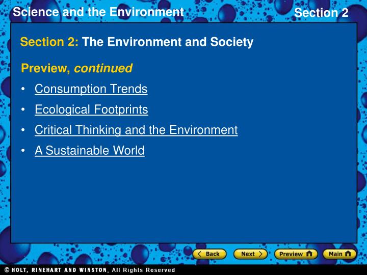 Section 2 the environment and society2