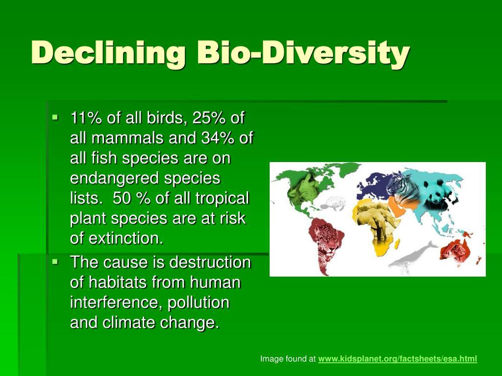 Declining Bio-Diversity