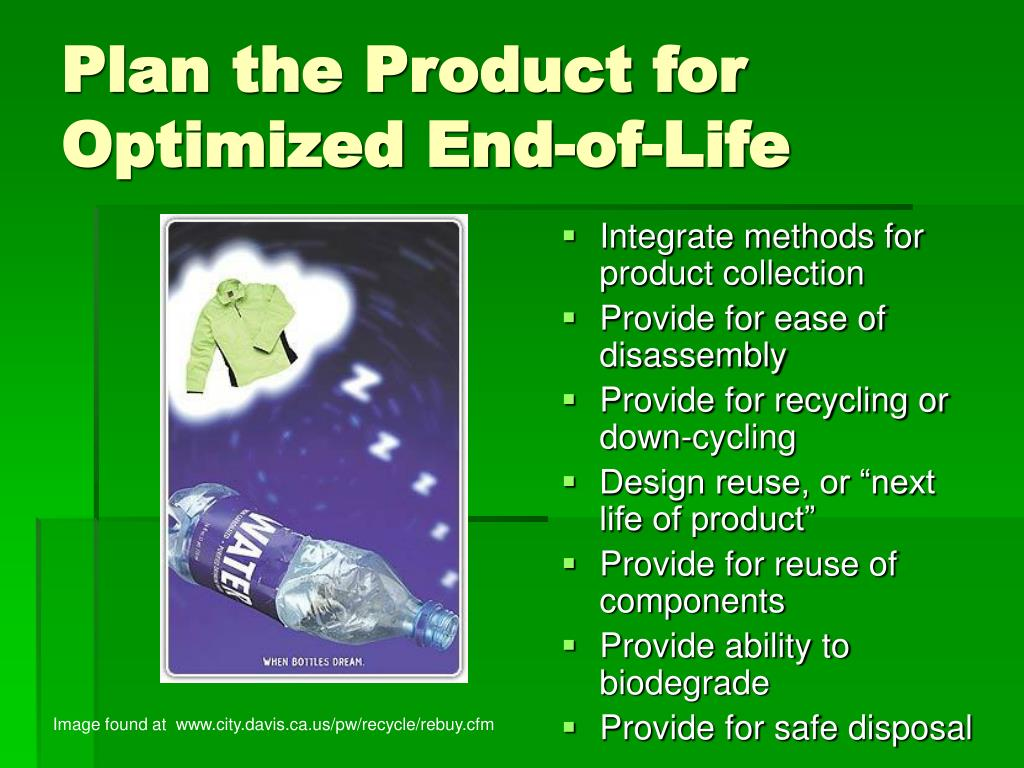 Plan the Product for Optimized End-of-Life